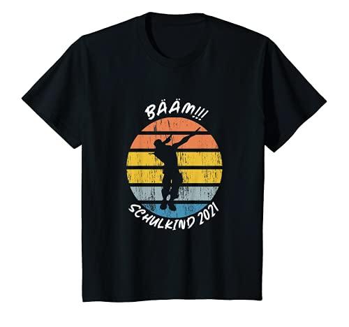 Kinder Bääm! Schulkind 2021 Kinder Einschulung Schulanfang Schule T-Shirt