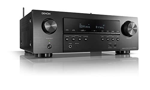 Denon AVR-S750H 7.2-Kanal AV-Receiver, Hifi Verstärker, Alexa Kompatibel, 6 HDMI Eingänge, Bluetooth und WLAN, Musikstreaming, Dolby Atmos und Vision, AirPlay 2, HEOS Multiroom