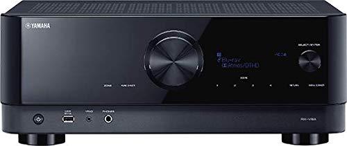 Yamaha Receiver RX-V4A schwarz – Netzwerk-Receiver mit MusicCast Surround-Sound, Gaming spezifischen Funktionen und Voice Control Systemen – Allround-Talent mit 5.2 Kanälen