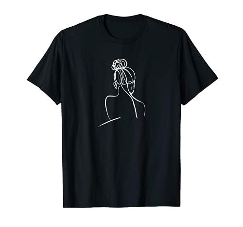 One Line Design Körper einer Frau Body of a woman T-Shirt