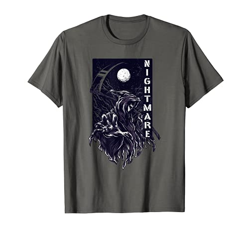 Sensenmann Grim Reaper Nightmare Horror Gothic Halloween T-Shirt