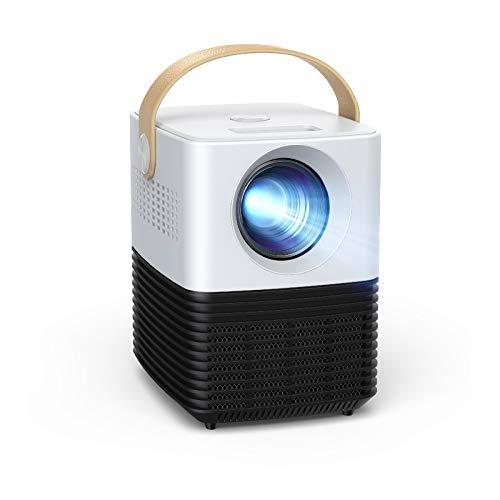Mini Beamer, APEMAN Unterstützt 1080P Video Projektor, ±30° Elektronische Korrektur, Dual Lautsprecher, 120' Kurzdistanz LED Full HD Display, mit HDMI/USB/Phone/PS4/TV Stick/chromecast, Für Heimkino
