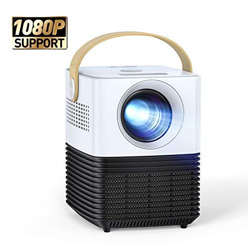 Mini Beamer, APEMAN Support 1080P Video Projektor, ±30° Fern Elektronische Korrektur, Dual Lautsprecher, 120' Display Full HD, Kompatibel mit HDMI/USB/Smartphone/PS4/TV Box, Für Heimkino[New Upgrade]