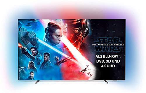 Philips Ambilight 65OLED804 164 cm (65 Zoll) Oled TV (4K UHD, HDR10+, Android TV, Dolby Vision, Google Assistant, Alexa kompatibel) [Modelljahr 2019]