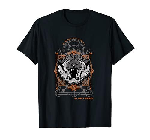 Tiger Gesicht Leader Tier Stark Katze Kraft Stärke T-Shirt