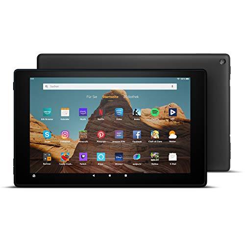 FireHD10-Tablet│10,1Zoll großes FullHD-Display (1080p), 32 GB, Schwarz, Mit Werbung (vorherige Generation – 9.)