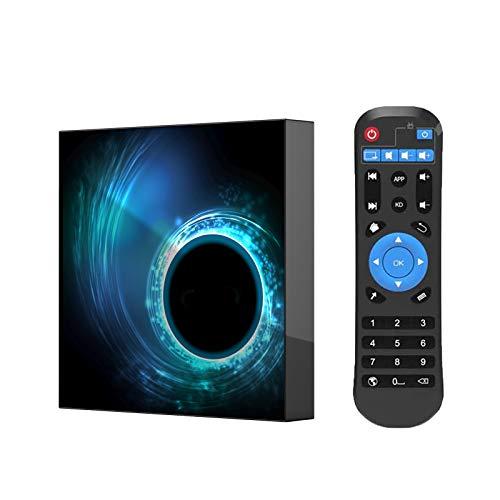 Android 10.0 TV Box,Android Box 4GB 64GB mi Quad Core 64-bit unterstützt Dual WiFi 2.4G+5G/ Bluetooth5.0 /H.265/3D/Ultra HD 6K Smart TV Box