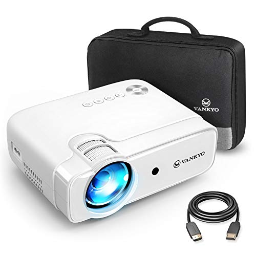 VANKYO Leisure 430 Mini Beamer, 5500 Lux Heimkino Beamer, support 1080P Full HD mit 60000 Stunden LED, kompatibel mit TV Stick, HDMI, SD, AV, VGA, USB, PS4, X-Box, iOS/Android Smartphone Projektor