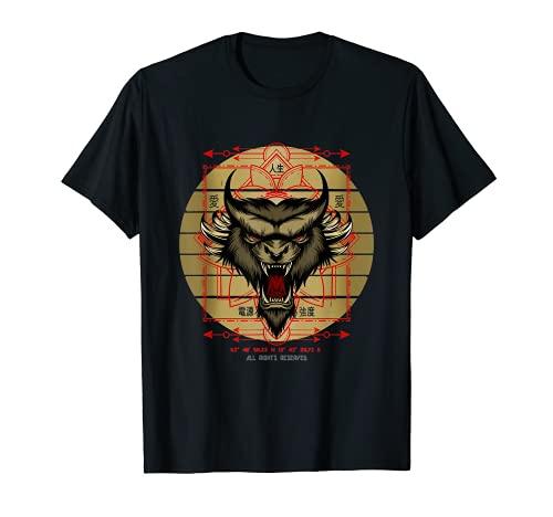 Demon Gesicht Stärke Kraft Energie Gefahr Liebe Vintage T-Shirt