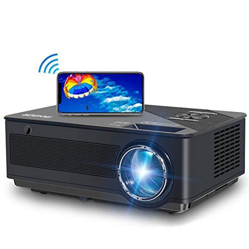Beamer, FANGOR 2020 Native 1080P Full HD Beamer, WiFi Bluetooth Beamer support 4K Video, 250 ''Display 7500 Lumen Heimkino beamer, kompatibel mit TV-Stick, HDMI, Xbox, Laptop, iOS / Android Smartphone