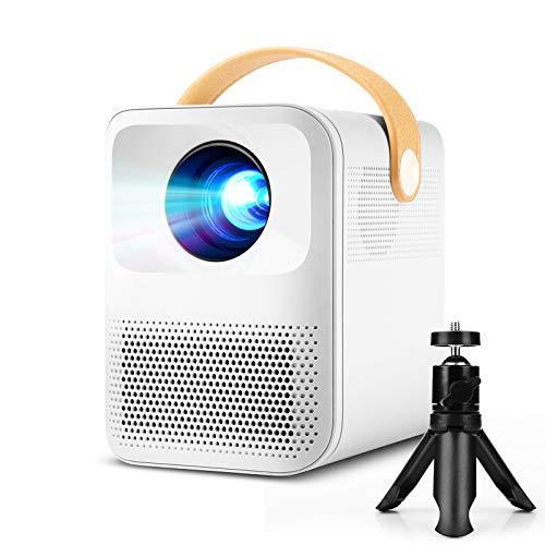 Mini Beamer, PODOOR Projektor 1920*1080P Native 1080P Full HD Heimkino Beamer, Dual Lautsprecher, 60000 Stunden LED Beamer Kompatibel mit TV Stick, HDMI, USB, PS4,X-Box,iOS/Android Videoprojektor