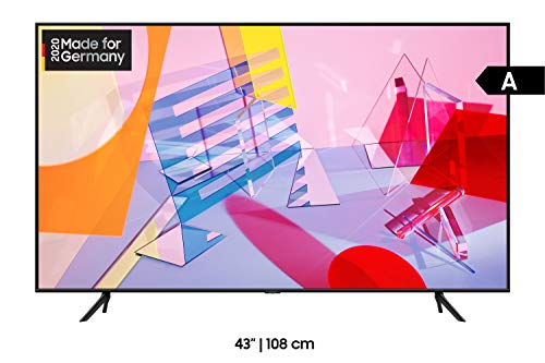 Samsung QLED 4K Q60T 108 cm (43 Zoll) (Quantum Dot, Dual LED, Quantum HDR) [Modelljahr 2020]