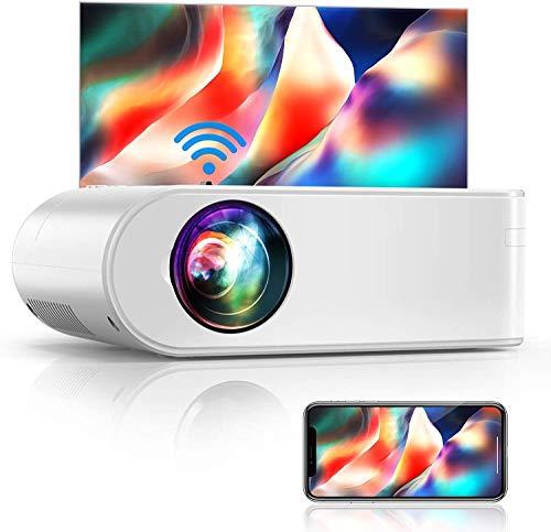 WiFi Beamer, YABER V2 6500 Lumen Tragbar Mini Beamer, Unterstützt 1080P Full HD Video Beamer, Projektor Kompatibel mit TV Stick,Tablet, PS4, iOS/Android Smartphone