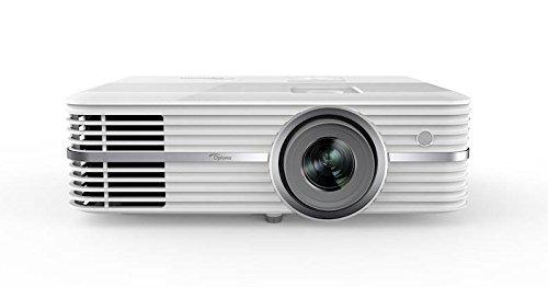 Optoma UHD40 4K DLP Projektor (UHD, 2400 Lumen, 500.000:1 Kontrast, Zoom 1,3x, 2x HDMI, 1x VGA) weiß