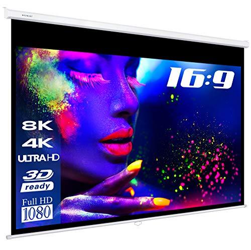 ESMART Professional MIROLO Rollo-Leinwand [Größenauswahl] 266 x 149 cm (120') 16:9 | Heimkino Beamer Projektionsleinwand Rollo Leinwand LCD LED